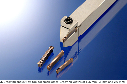 Grooving and cut-off tool for small lathes(Grooving widths of 1.25 mm, 1.5 mm and 2.0 mm)