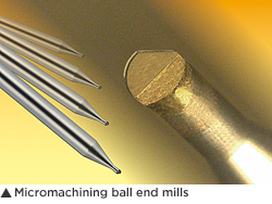 Micromachining ball end mills