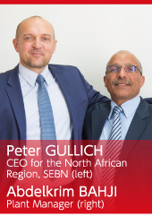 Peter GULLICH CEO for the North African Region, SEBN(left) Abdelkrim BAHJI Plant Manager (right)