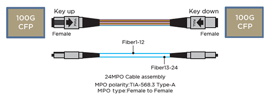 MPO polarity & Basic connection with optical transceivers