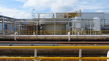 Wastewater treatment system installed in the Thailand Plant